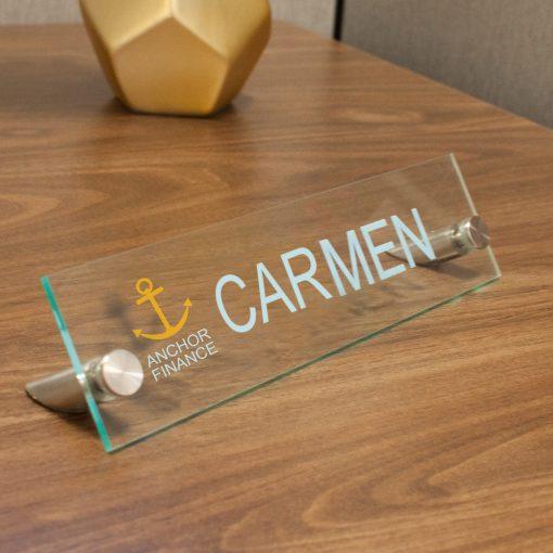 Designer Rectangle Acrylic Desktop Signs for Offices - Nap Nameplates