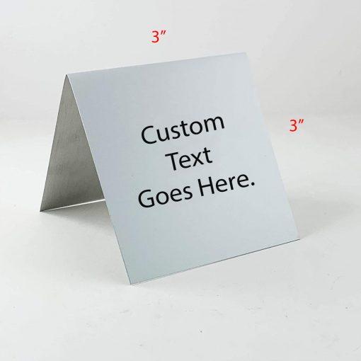 "custom table top sign 3"" x 3"""
