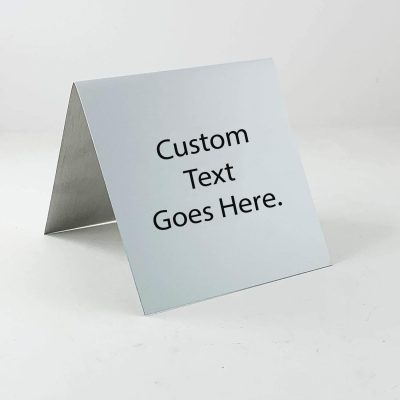 "custom table top sign 3""x3"""