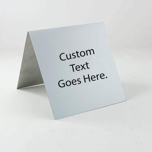 "custom table top sign 3""x3"""