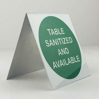 sanitized sign