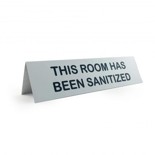 this room has been sanititzed
