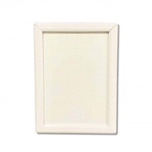 white snap frame