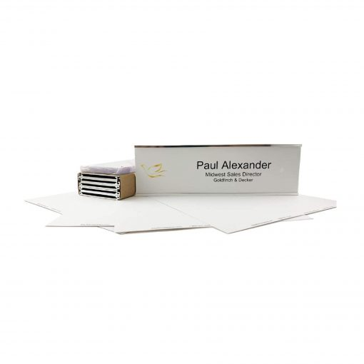 paper name plate kit