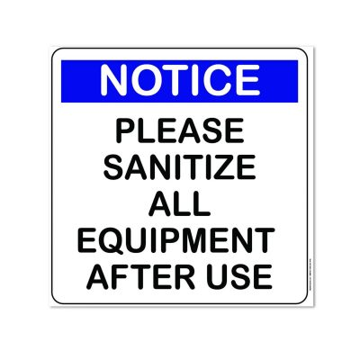 sanitize sign