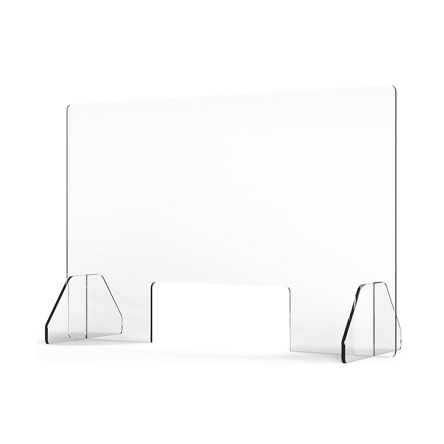 30 W x 30 H Multi-Sizes Sneeze Guard Panel for Desk VARWANEO Counter and Table Clear Acrylic Plexiglass Shield