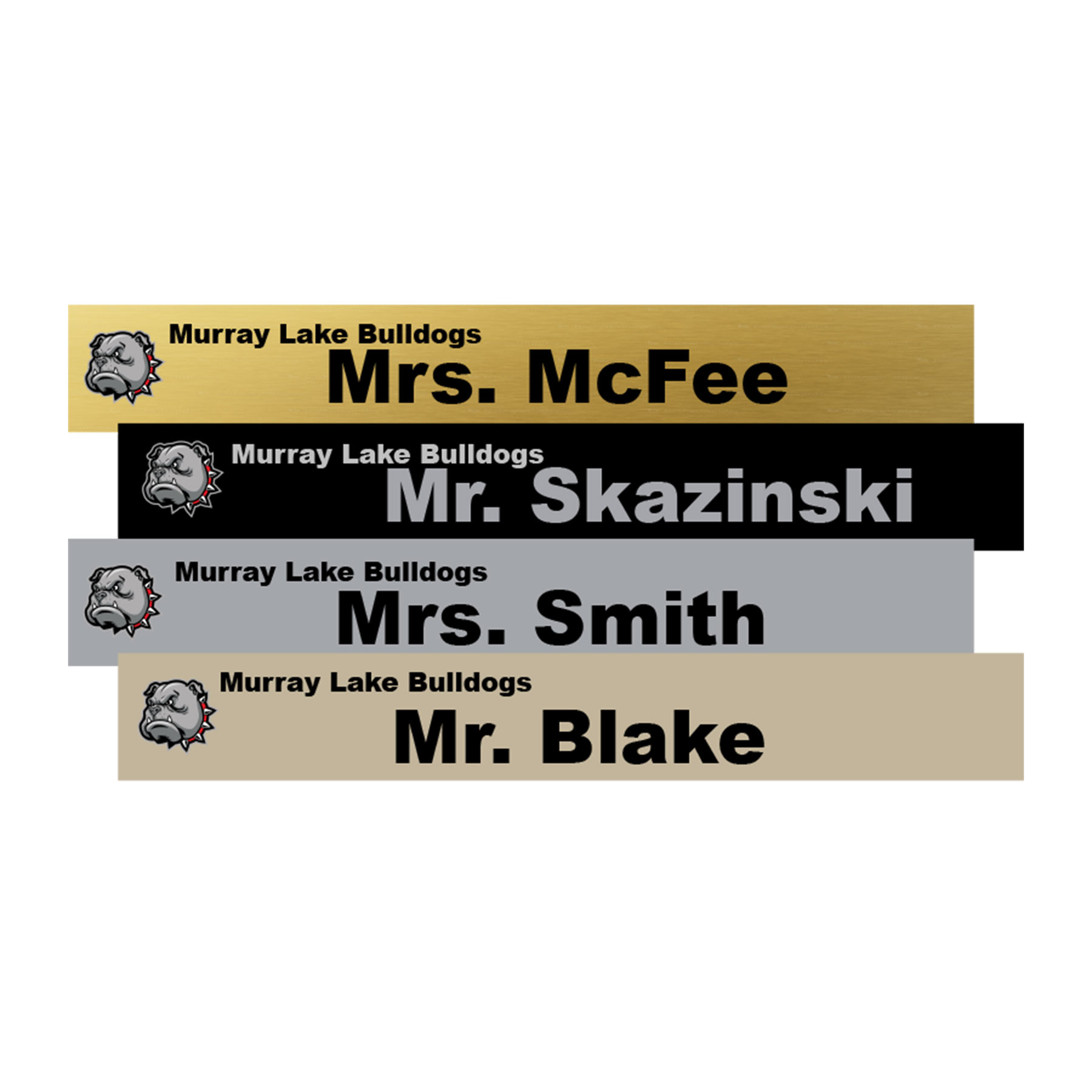 14x2 Office Name Plate Signs Color Printed Metal Nap Nameplates
