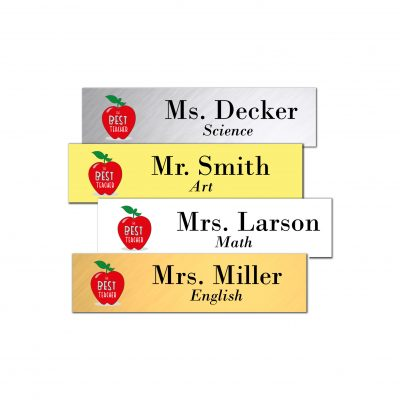 full color metal nameplate