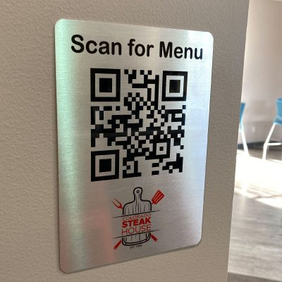 barcode menu sign